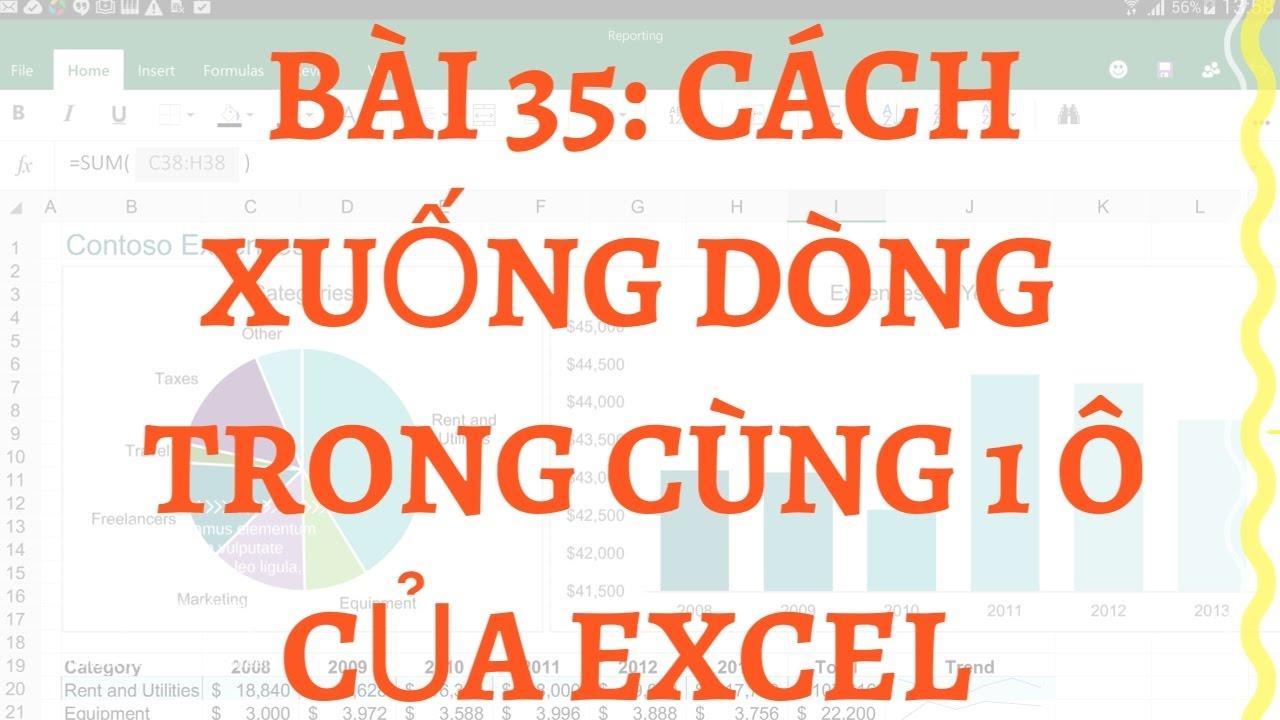 35. Bài 35: Cách xuống dòng trong cùng 1 ô của excel