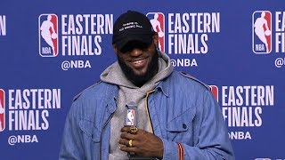 LeBron James Postgame Interview - Game 7 | Cavaliers vs Celtics | 2018 NBA East Finals