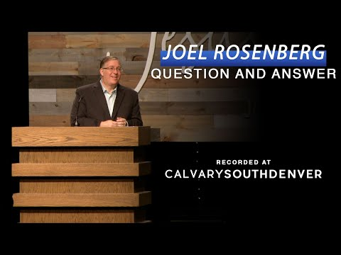 Joel Rosenberg Q&A at the 2019 Ministry Architecture Fundraiser ...
