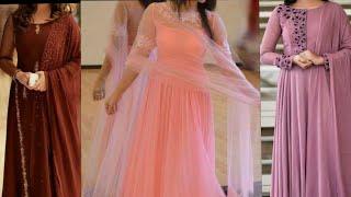 Frock suit/Anarkali suit/ Long dresses ideas