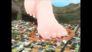 MMD Giantess - Haku vs city