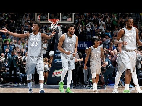Timberwolves Beat Nuggets in OT Advance to Playoffs! 2017-18 Season