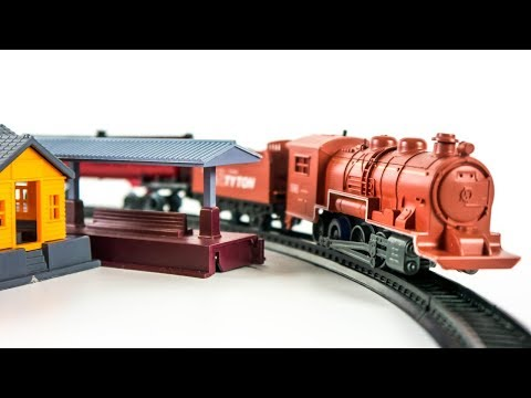 Юнион Пасифик Ретро-Поезд 2 Игрушки Железная Дорога Станция и Паровозик ВИДЕО ДЛЯ ДЕТЕЙ