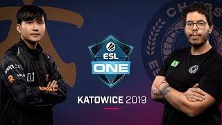 Dota 2 - Fnatic vs. Chaos - Game 2 - Group B R3 - ESL One Katowice 2019