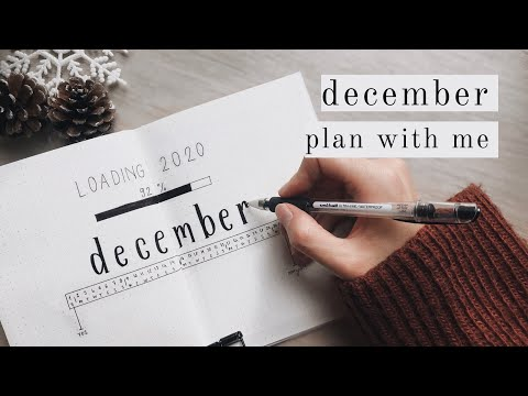 ÇOK KOLAY ÖĞRENCİ AJANDASI: ARALIK 2019 (December Bullet Journal Set up)