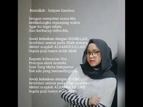 Download Nissa sabyan - Bismillah lirik video [A2]