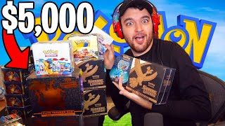UNBOXING $5,000 OF RARE POKEMON CARDS!!! (CHARIZARD HUNT)