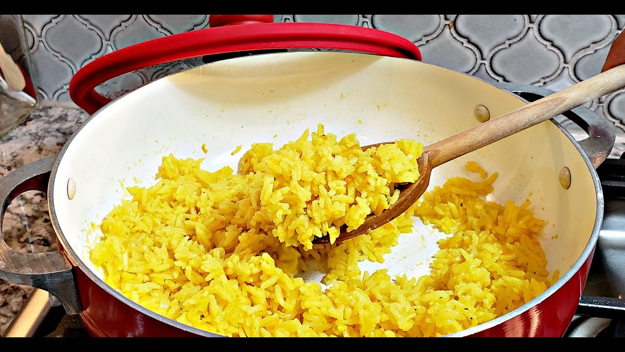 Easy Yellow Rice Recipe How To Make Yellow Rice Hd Cooking Video Youtube