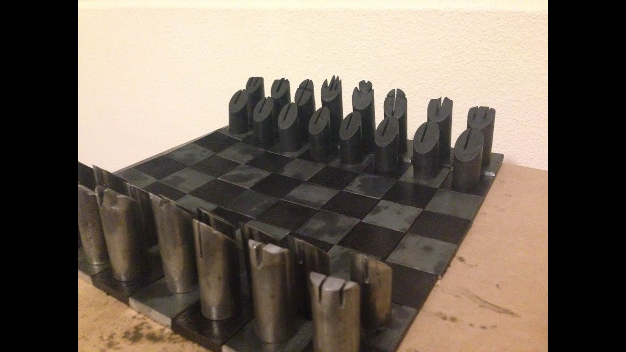 Steel Chess Pieces Oil Blackening Steel Chess Pieces Youtube