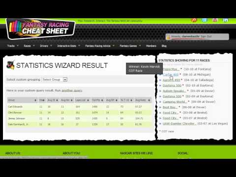 NASCAR Statistics Wizard