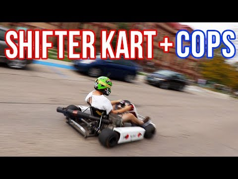POLICE + SHIFTER KART through college campus!!