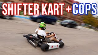 POLICE chase SHIFTER KART through college campus!!