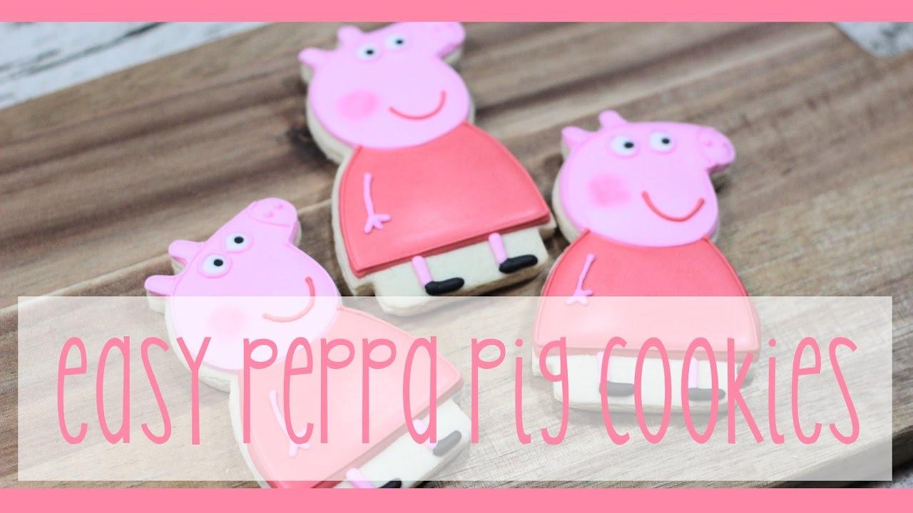 Easy Peppa Pig Character Cookies Youtube