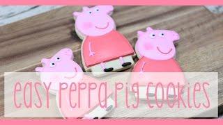 Easy Peppa Pig Character Cookies