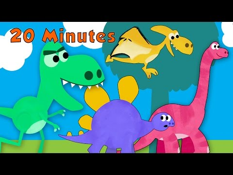 The Dinosaur Song and More Songs For Children | Toddler Fun Learning