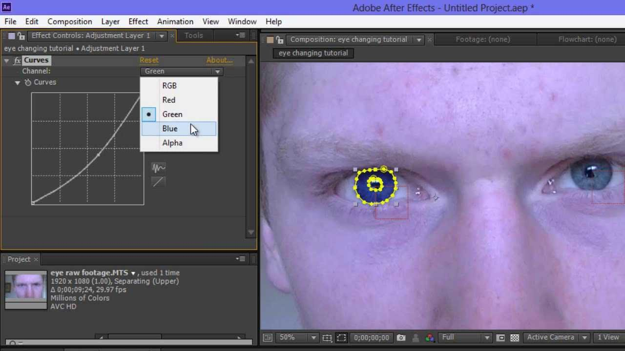How To Change Eye Color In Adobe After Effects (super Easy)