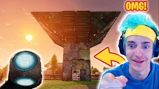 NINJA FINDS *EXTREMELY RARE* PORT-A-FORT GRENADE BASE! PORT-A-FORT IS OP?! (Fortnite Battle Royale)