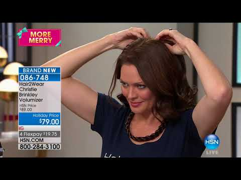 HSN | Christie Brinkley Hair Extensions & Skincare 10.10.2017 - 07 PM