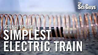 The Sci Guys: Science at Home - SE3 - EP9: Simplest Electric Train - Magneto-Electric Train