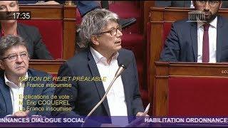CE N'EST PAS UNE LOI TRAVAIL, C'EST UNE LOI CAPITAL ! - Éric Coquerel