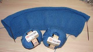 Кардиган для начинающих спицами из пряжи Ярн арт Джинс/Yarn art Jeans ч.1