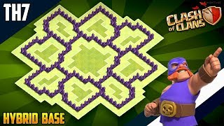 New Ultimate TH7 HYBRID/TROPHY[defense] Base 2018!!  Town Hall 7 Hybrid Base Design - Clash of Clans