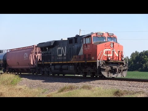 HD CN Oil Train Chase From Poplar Bluff To Dudley 9/23/15