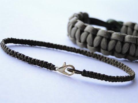 Making A Nano Cord/Lobster Clasp Square Knot/Cobra Stitch Mini Bracelet-Macrame Basic