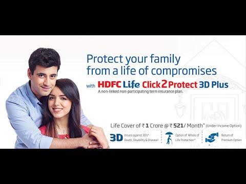 HDFC Life Term Insurance Plan - Click 2 Protect 3D Plus