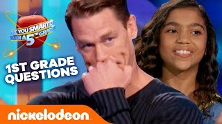 Are You Smarter Than A… FIRST GRADER?? 🤓 Quiz Challenge w/ John Cena   #KnowYourNick