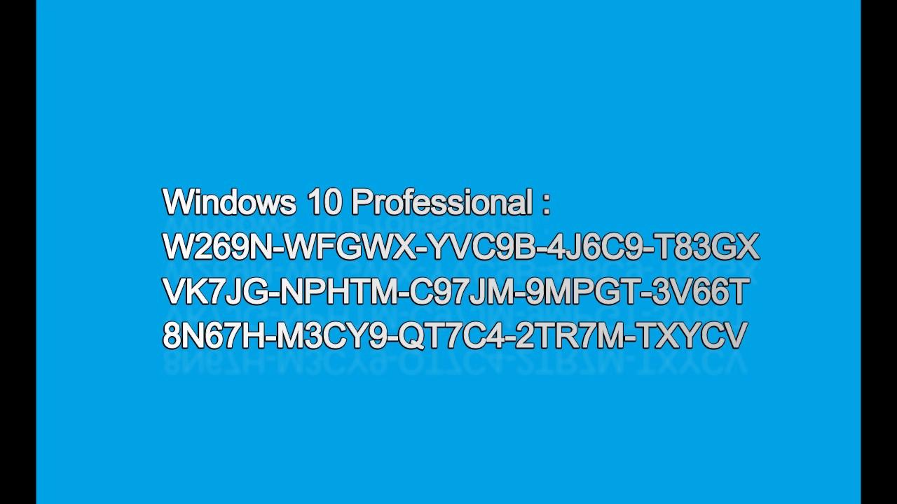 Windows 10 Product Key(100% Working) - YouTube