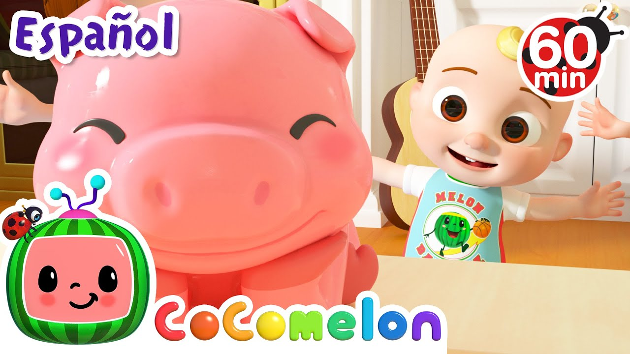 CoComelon en Español | Alcancía de cerdito | Compilación de Canciones Infantiles y de Cuna