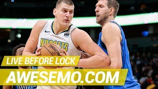 Yahoo, FanDuel & DraftKings NBA DFS Live Before Lock - Sat 1/26 - Awesemo.com