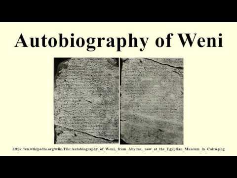 Autobiography of Weni