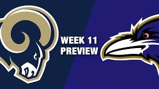 Rams vs. Ravens Preview (Week 11) | NFL