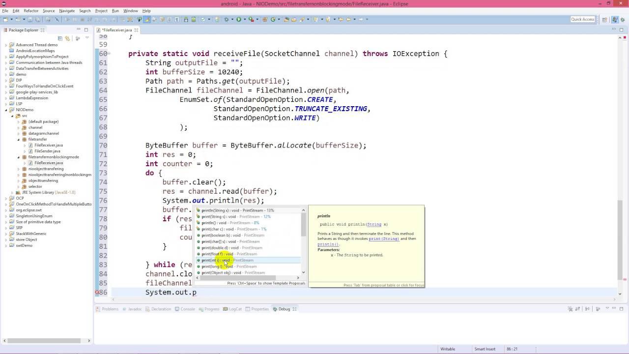 Java nio non blocking file transfer through socketchannel youtube java nio non blocking file transfer through socketchannel baditri Images