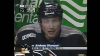 Alexei Kovalev does it all for Alex Morozov who scores against Panthers (2000)