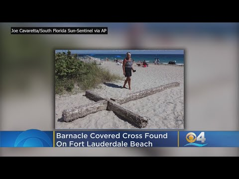 Spiritual Find As Barnacle-Covered Wooden Cross Washes Ashore In Fort Lauderdale – Miami FL Alerts