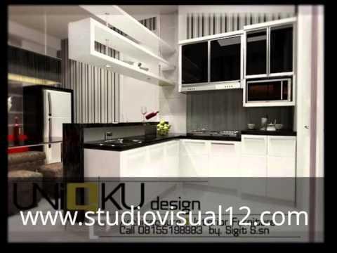 Desain 3D Dapur dan Kitchen Set