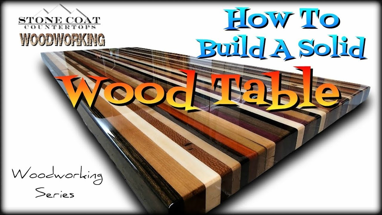 How to build a solid wood table top