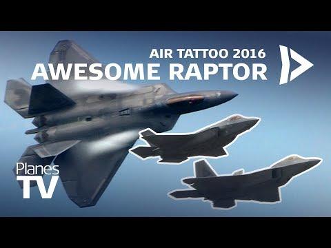 Awesome F22 Raptor ¦ Air Tattoo 2016