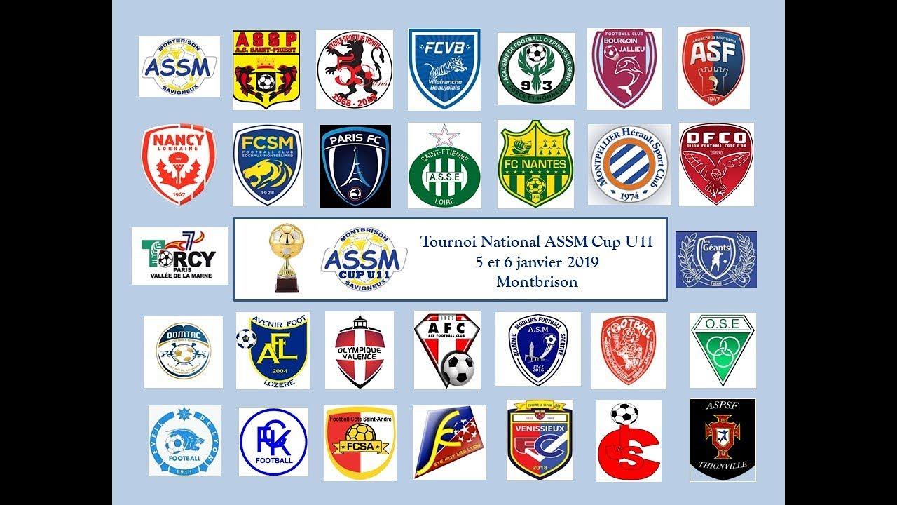 ASSM CUP U11 2019 _ tableau final du tournoi Champions League _ Montbrison _ 5 et 6 janvier 2019 ...