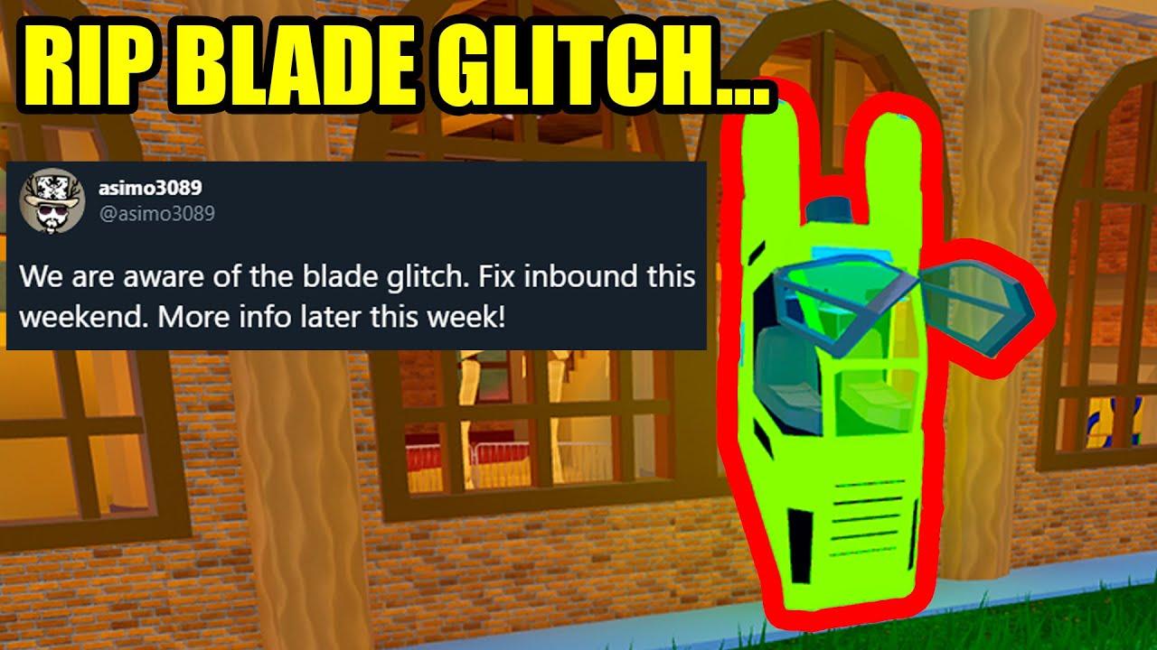 Roblox Jailbreak New Blade Rip The Blade Glitch Roblox Jailbreak Youtube