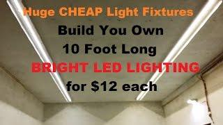 Make 10 foot LED Strip lights for $12 for garage house shop 12 volt PARTS BELOW