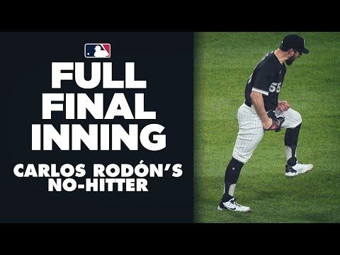 FULL 9TH INNING: Carlos Rodón's no-hitter (Crazy play at 1st, loses perfect game, but seals no-no!) |
