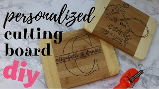 HOW TO DIY A CUSTOM CUTTING BOARD! Wood Burning DIY Project