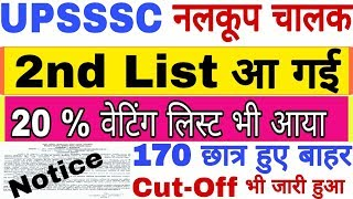 UPSSSC Tubewell Operator 2nd List जारी | UPSSSC Tubewell Operator 2nd Result And Cut-Off