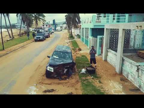 Puerto Rico East Side Post Hurricane Devestation video 2 (drone)