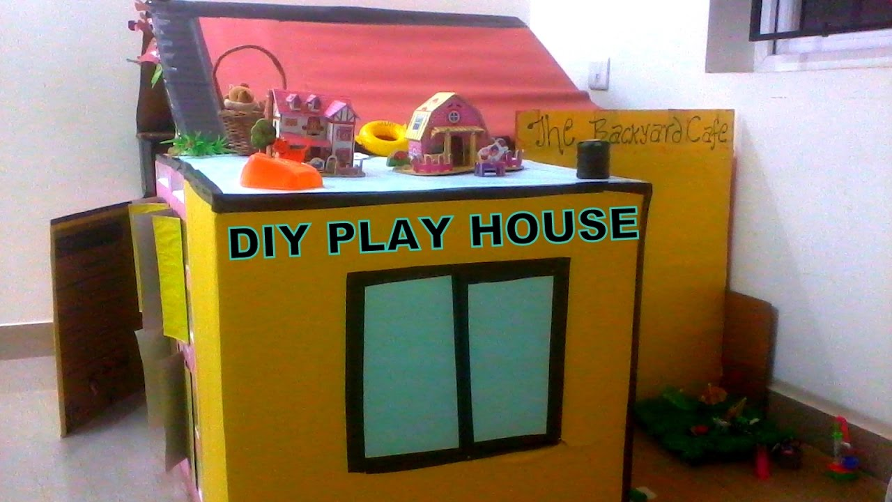 DIY Play House For Kids   Cardboard Play House