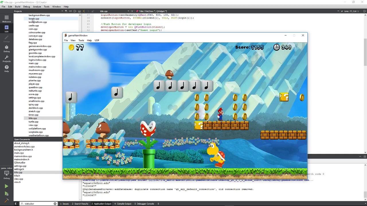 Super Mario Qt Game Programming